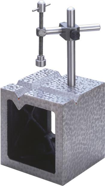 鋳鉄製 V溝付桝形ブロック