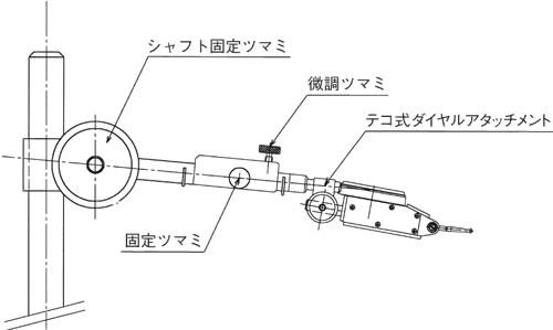 テコ式ダイヤルゲージ用アーム(微動調整付)